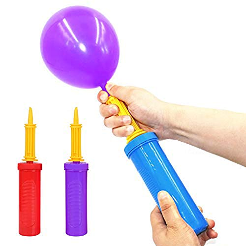 Sinicyder Ballonpumpe Handpumpe, 3 Stück Tragbare Luftpumpe mit Doppelter Wirkung für Luftballons, Übungsbälle, Yoga-Bälle, Schwimmbecken-Party Geburtstage Manuelle Ballonpumpen Handmanual Inflator