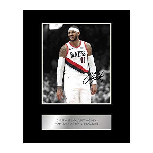 Carmelo Anthony Signed Mounted Photo Display Portland Trail Blazers #03 NBA Printed Autograph Gift Picture Print