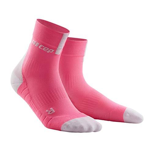 CEP – Short Socks 3.0 für Damen | Sportsocken für mehr Power und Ausdauer in pink/grau in Größe III