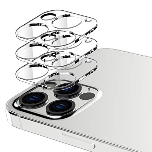 EGV 3 Pack Camera Lens Protector Compatible with iPhone 12 Pro Max 5G 6.7-inch, HD Clear Tempered Glass Back Camera Protector, Case Friendly, Ultra-Thin, Easy Installation
