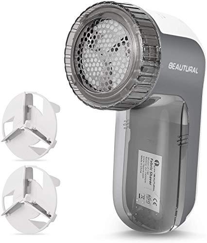 Beautural Quitapelusas eléctrico,9000R per Min, 3 Alturas de Afeitado,3 tamaños de Agujeros y 2 velocidades,Bloqueo de Seguridad para Proteger niños