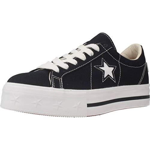 Converse GINNICA ONE Star Platform OX Dark Obsidian/White Donna Mod. 564031C Dark Obsidian/White/Gym RED 35