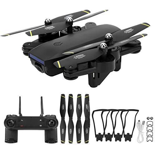BOLORAMO WiFi RC Drone con cámara 4K HD para Adultos Principiantes, cuadricóptero RC Plegable para niños, con luz LED, retención de altitud, Modo sin Cabeza, Retorno automático de una tecla