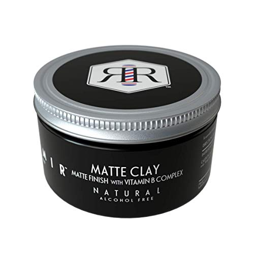 Reamir Men's Hair Styling Matte Clay - Men's Hair Styling Product - Medium Hold Matte Finish - Frizz Protection - All Natural 4 oz