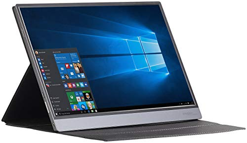 auvisio Touchscreen: Mobiler IPS-Monitor, 4K UHD, 39,6 cm (15,6'), USB C, Micro-USB & HDMI (Touch Monitor)