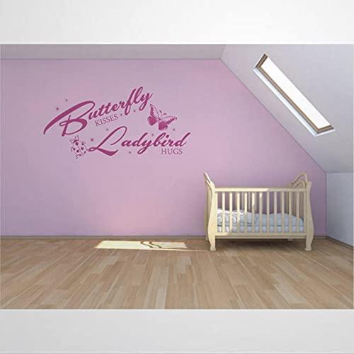 Mariposa besos mariquita abrazos calcomanía removible DIY arte decoración de pared mural arte pared decoración del hogar bm257