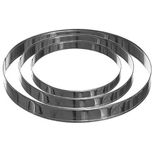 FIVE Simply Smart - Lot de 3 Cercles en Inox'Tarte' 28cm Argent