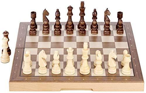 Juego de ajedrez juego de ajedrez juego de mesa para adultos niños, conjunto de ajedrez de madera magnético, 15 pulgadas de viaje plegable desarrollo intelectual juego de ajedrez juego Juegos tradicio