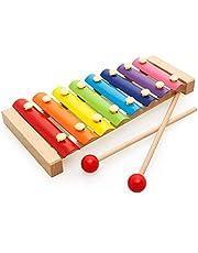 Ducomi Xilófono instrumento musical de madera con varillas, entretenimiento, desarrollo y talento (20 cm)