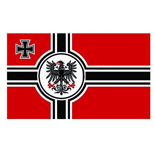 XUzhang 90 * 150cm Deutsche Nationalflaggenflagge, Flagge des Deutschen Reiches Adlerflagge, Flagge des Deutschen Reiches Aus Polyesterfaser