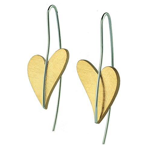 Ernstes Design Ohrringe kleines Herz Gold