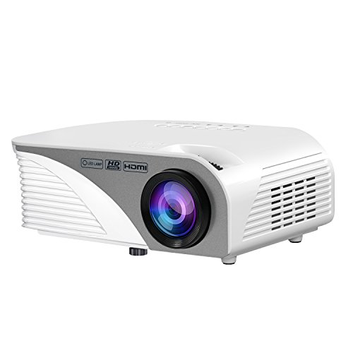 Home Theater Projector, Rademax Portable Mini Multimedia Projector Outdoor/Indoor Video Home Theater 1200 Lumens Support 1080P HD with Speaker via USB Drive TV Game Laptop Smartphone Tablet