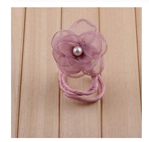 YUNGYE Korean Peal Flower Bow Barrettes élastiques Cravate Cheveux Outil Bricolage Femmes Fille Cheveux Pins Barrettes Bobby Pins Coiffe Accès Cheveux