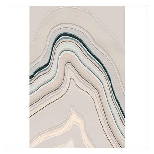 Hbao Post Modern Style Formado Irregular Arte Abstracto Son la Alfombra, la Alfombra de la Sala de Estar Tejida de la decoración de Estilo nórdico de tamaño Grande (Size : 160x240cm)
