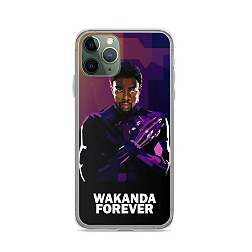 Phone Case Black Panther Wakanda Forever Compatible with iPhone 6 6s 7 8 X XS XR 11 Pro Max SE 2020 Samsung Galaxy Scratch Funny