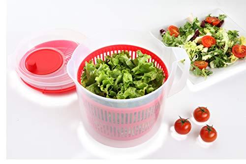 SMART-T-HAUS 7051011 Centrifugadora de Alimentos, 3.5 litros, Plástico, multicolor