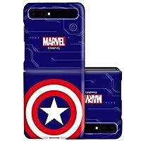 マーベル Marvel ヒーロー エンブレム Hero Emblem 3D ハード ケース Hard Case (Samsung Galaxy Z Flip, キャプテン アメリカ Captain America) [並行輸入品]