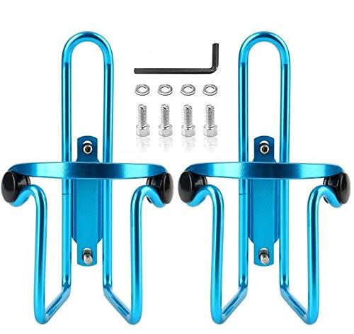 Small ear Bike Water Bottle Cage, Bicycle Water Bottle Holder, Light Aluminum Alloy Bracket (2pack Blue)
