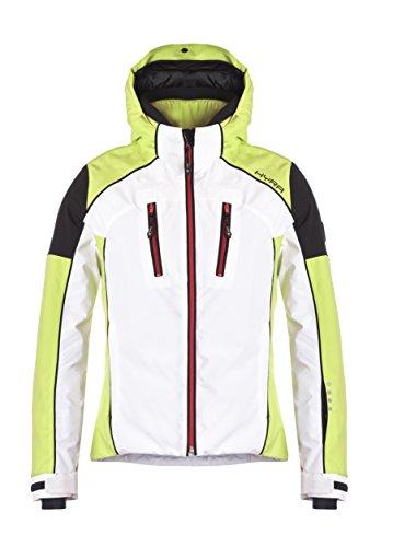 Hyra Silvaplana Lady Ski Jacket, Giacca da Sci Donna, Bianco/Verde Limone, IT44/M