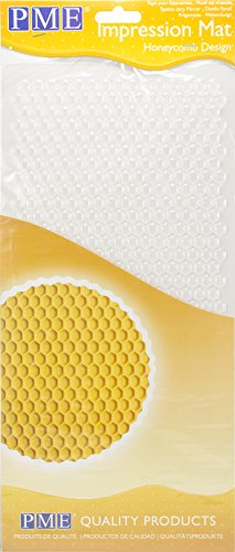 PME Abdruckmatte mit Bienenwabendesign, Kunststoff, Transparent, 15 x 1 x 30.5 cm