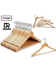 HKC HOUSE Wooden Suit Hanger, 10 Pieces