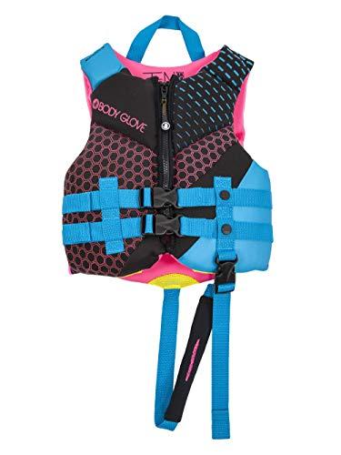 Body Glove 18224CAQUPNK Phantom Child PFD Life Vest – USCGA Approved Aqua, Pink