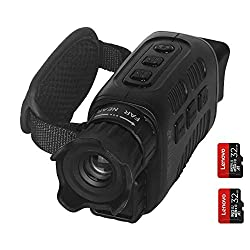 HeavenBird Digital Night Vision Goggle Monocular with Double 32GB TF Memory Card, Infrared Digital Night Vision Large Viewing Screen for Total Darkness, Have Photo and Video Storage