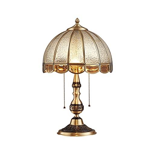 Lámpara de mesa de doble lámpara Lámparas de mesa de noche con sombra de cristal de diamante, lámpara de mesa de estilo de glamorosa tradicional para sala de estar dormitorio casa de noche de noche de