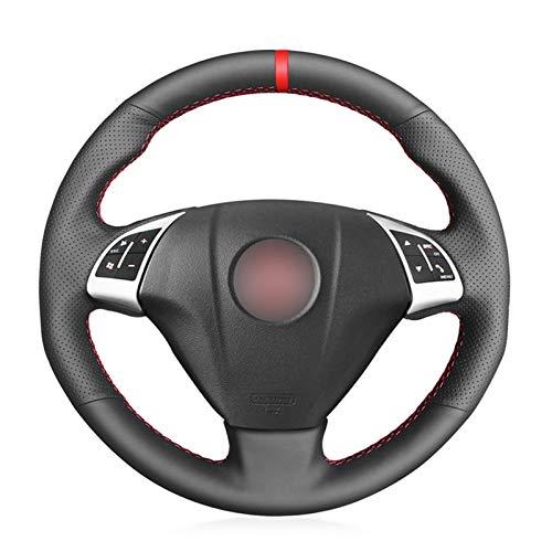 QSONGL Fundas para Volante para Fiat Grande Punto Bravo Linea 2007-2019 Qubo Doblo, para Opel Combo Cubierta de Volante de Coche de Cuero Artificial Negro