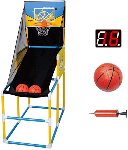 Hewen Easy to Assemble Basketball Arcade Game,Best Portable Hoop Shooting Games for Kids,Shootout Basketball Arcade Game,Indoor & Outdoor Sports Playset Adjustable (Size : with 2 Ball)