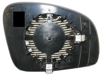 Cristal placa espejo retrovisor Fabia 2007-2010 derecha