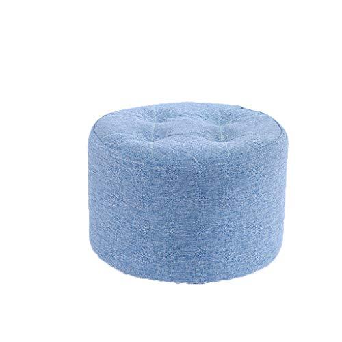 GXT Escudo de Madera Maciza sofá heces heces del Color del Caramelo Creativo casero Taburete bajo la Sala de Banco Lazy Banco de Zapatos Estable (Color : Blue)