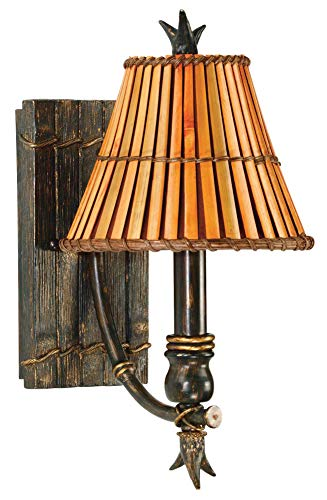 Kenroy Home Kenroy 90451BH Tropical/British Colonial One Light Wall Sconce from Kwai Collection in...