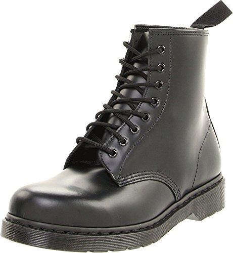 Dr. Martens Men's 1460 Mono Smooth Combat Boot, Black/Black Smooth, 8 UK/9 M US
