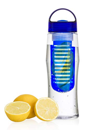 Vinsani® Fruit Fuzer Water Fles Fruit Infusie Infuser Aqua Hydratie - Blauw.