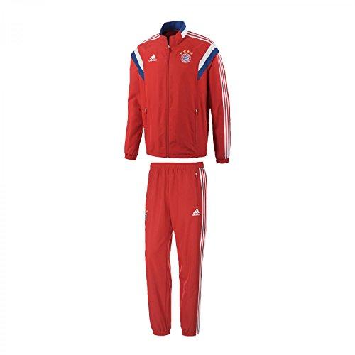 adidas Kinder Präsentationsanzug FC Bayern Presentation Suit für Youth, FCB True Red/White, 176