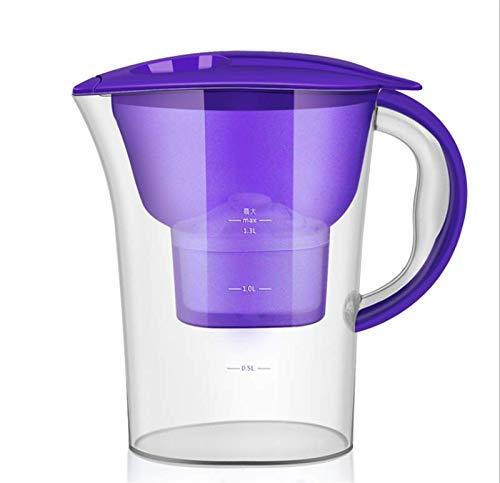 LYDIANZI Jarra De Filtro De Agua con Filtro Universal Jarra De Agua De Plástico Portátil Filtro De Agua Hervidor Activado 2.5L(Color:púrpura)