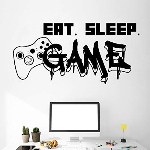 Etiqueta engomada de la pared del vinilo del videojuego del controlador del juego para los niños