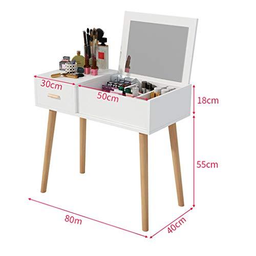 WEN HAO-wandklapptisch Nordic Dresser Artificial Brett aus kleinen und einfachen Moderne Fensterbank Schminktisch Speicherschrank In One (Color : E)