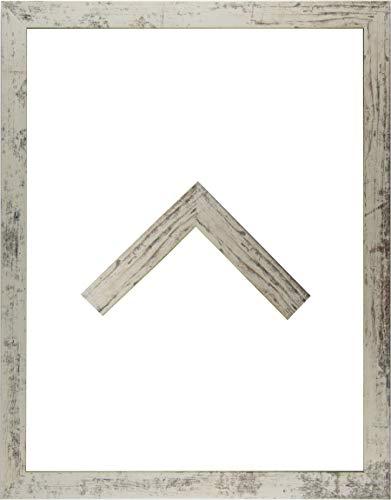 RahmenMax Morena Holz Werkstoff Bilderrahmen 60 x 83 cm modernes sehr eckiges Profil 83 x 60 cm Grosse Farbauswahl jetzt: Beige Vintage mit Kunstglas klar 1 mm
