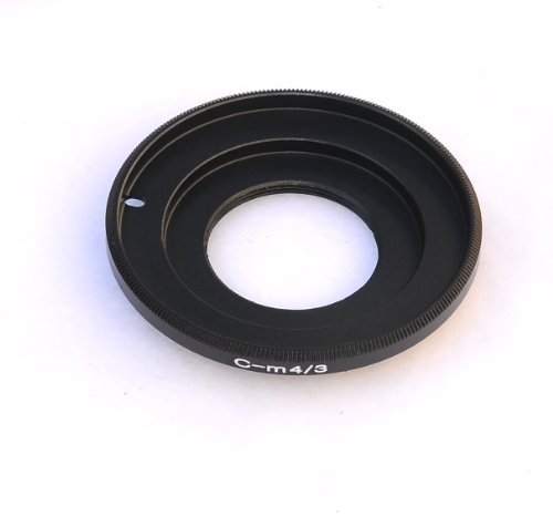 EzFoto C-Mount Cine Movie lens to M4/3 MFT Mount Adapter, fits Olympus E-P1 E-P2 E-P3 E-PL1...