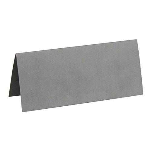 Generique - 10 Marque-Places rectangulaires argentés 3 x 7 cm
