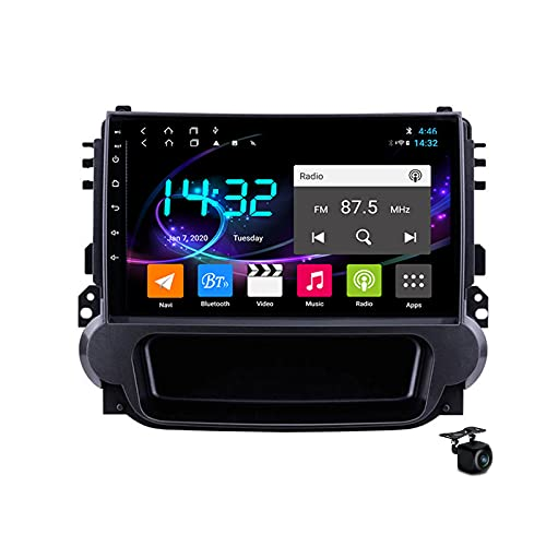 Coche Estéreo Android 10.0 Radio SAT NAV para Chevrolet Malibu 2012-2015 GPS Navigation 9 '' Pantalla táctil IPS 2 DIN Multimedia Video Player FM Receptor con 4G 5G WIFI SWC Carplay,M500s