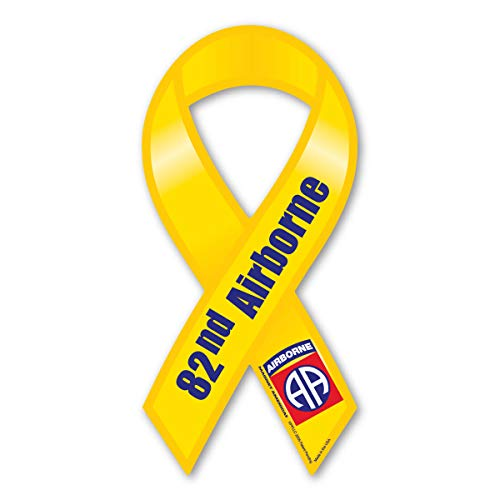 82nd Airborne Yellow Ribbon Magnet