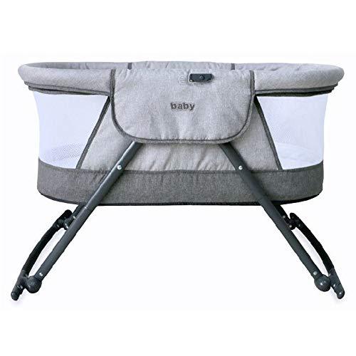 Baby Reisebett Beistellbett Babybett klappbar grau beige Mädchen Jungen Bassinet Traveler mit Moskitonetz, Matratze und Tasche - 2