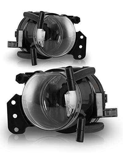 Fog Lights for 2003-2007 BMW E60/E61 5 Series, 2003-2006 E46 3 Series (CPE/CPNV) OEM Fog Lamps With Clear Lens