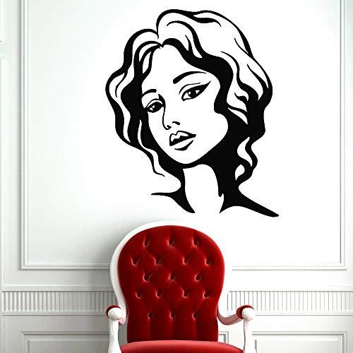 Tianpengyuanshuai muurstickers voor het vrouwelijke gezicht, schoonheidssalon, vinyl, voor woonkamer, slaapkamer, decoratie, afneembaar
