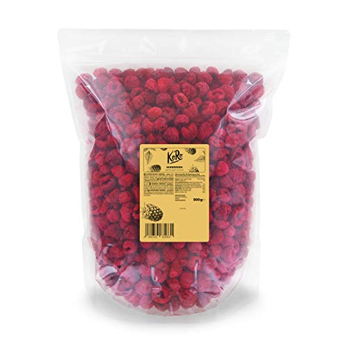 KoRo - Gefriergetrocknete Himbeeren 500 g - Trockenfrüchte schonend getrocknete - Pflanzliche Naturkost