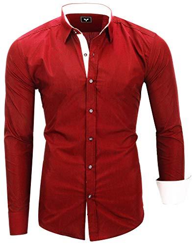 Kayhan Herren Hemd, TwoFace Rot L