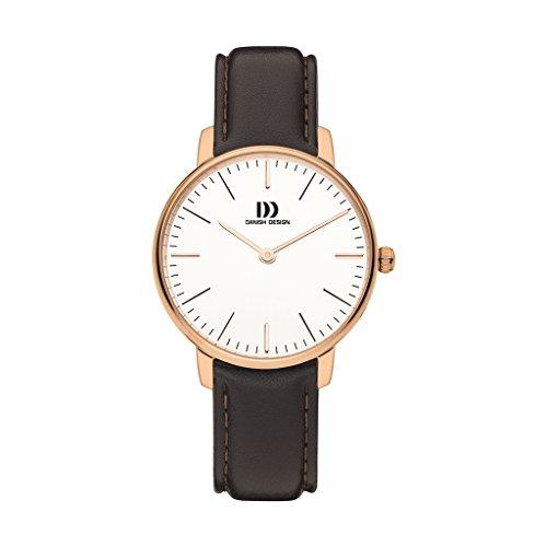 Danish Design Unisex volwassen analoog kwarts horloge met lederen armband NO. : IV17Q1175